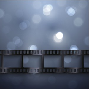 Cinema background with film strip
